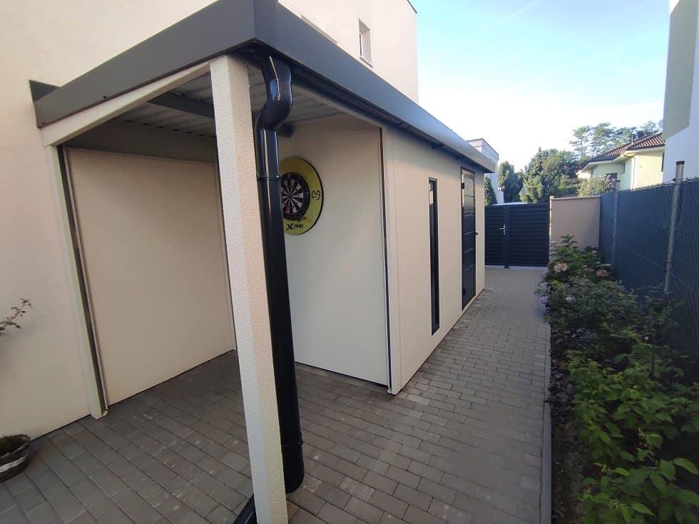 GARDEON - Fertiggartenhaus mit Überdachung