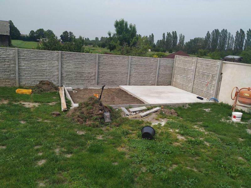 Fundament für das Gartenhaus von GARDEON