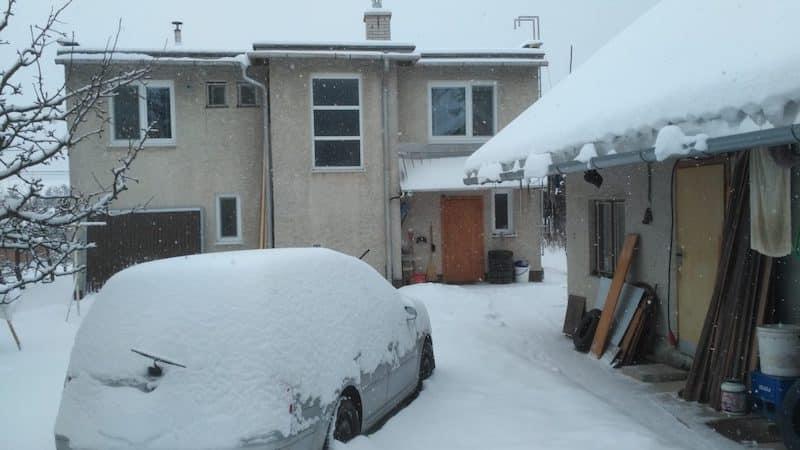 Blankas Garten ohne Garage
