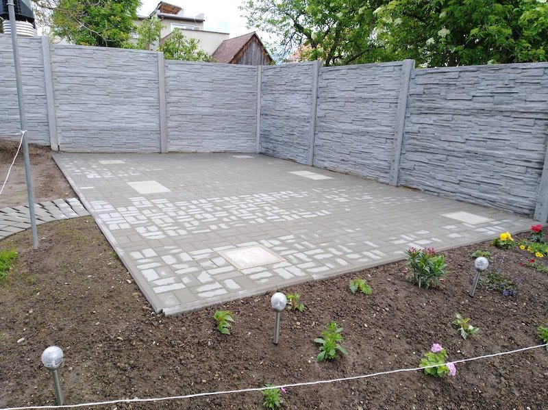 Fundament unter das Gartenhäuschen