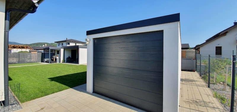 GARDEON Garage, schlicht, in weiß