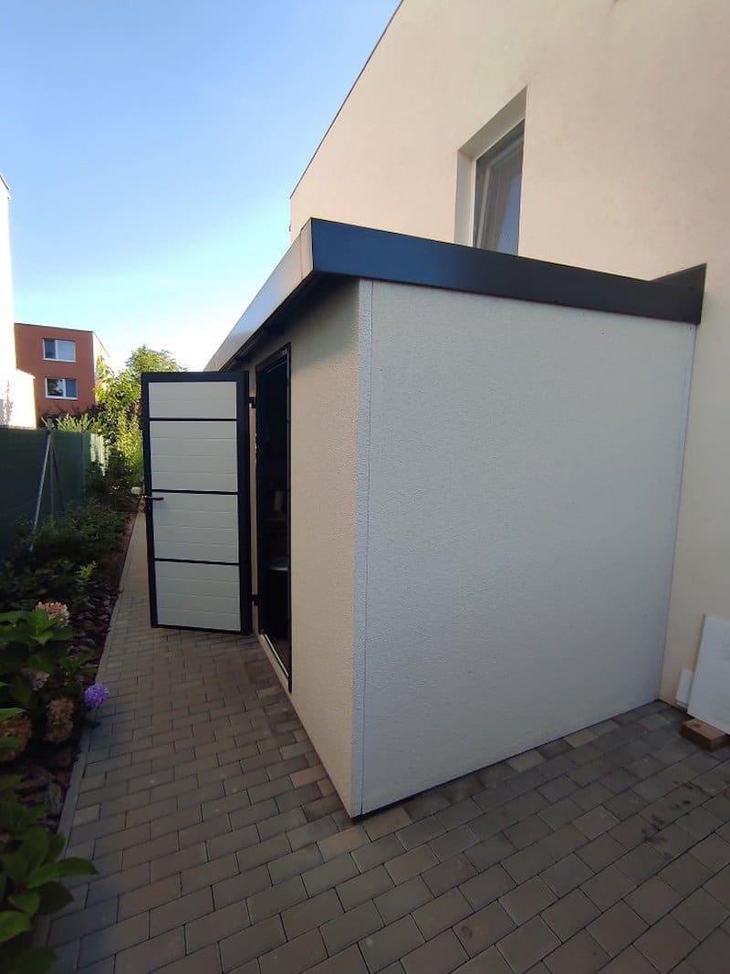 Offenes Gartenhaus in weiß - GARDEON