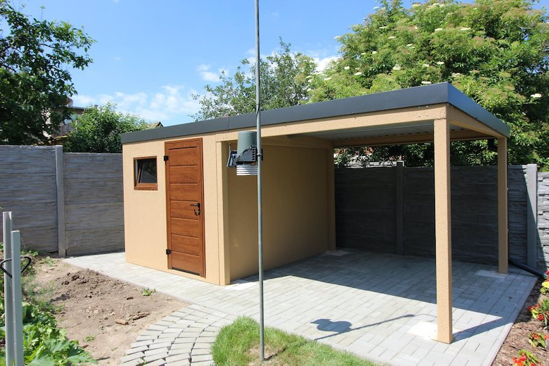 Gartenhäuschen GARDEON mit einer Überdachung