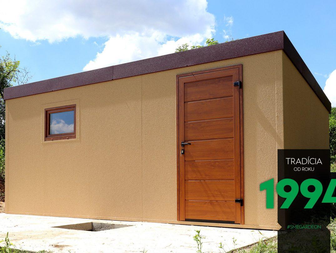 GARDEON Gartenhaus mit einer LPU42 Tür von Hörmann