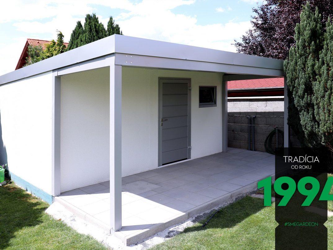 GARDEON Gartenhaus in weiß mit Zubehör in der Farbe Aluminium-weiß