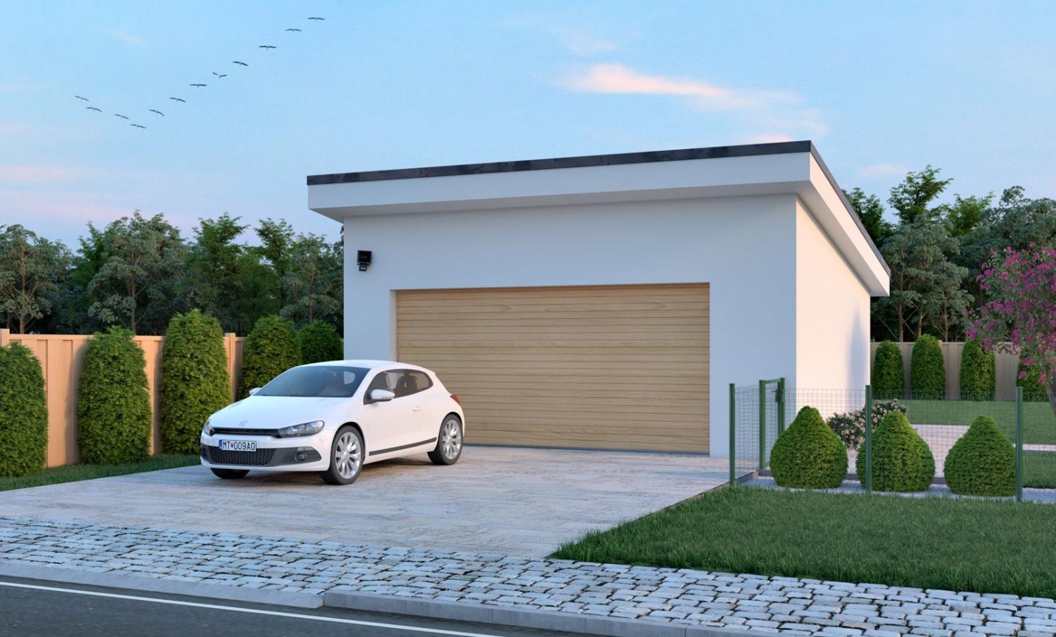 Gemauerte Garage