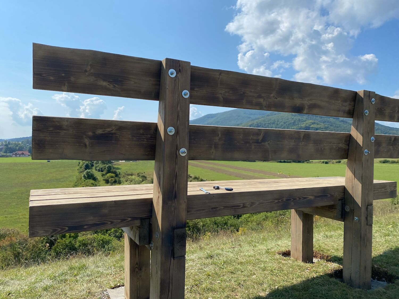 GARDEON Bank aus massivem Holz