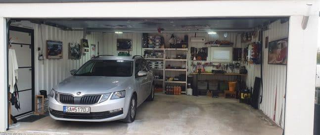 Die Ansicht in eine GARDEON Garage