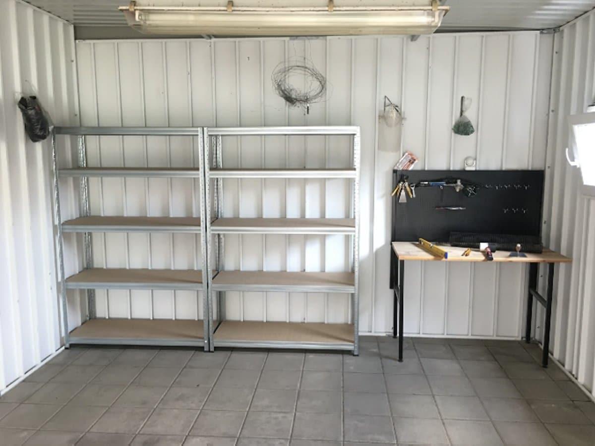 Pflastersteine in der Garage