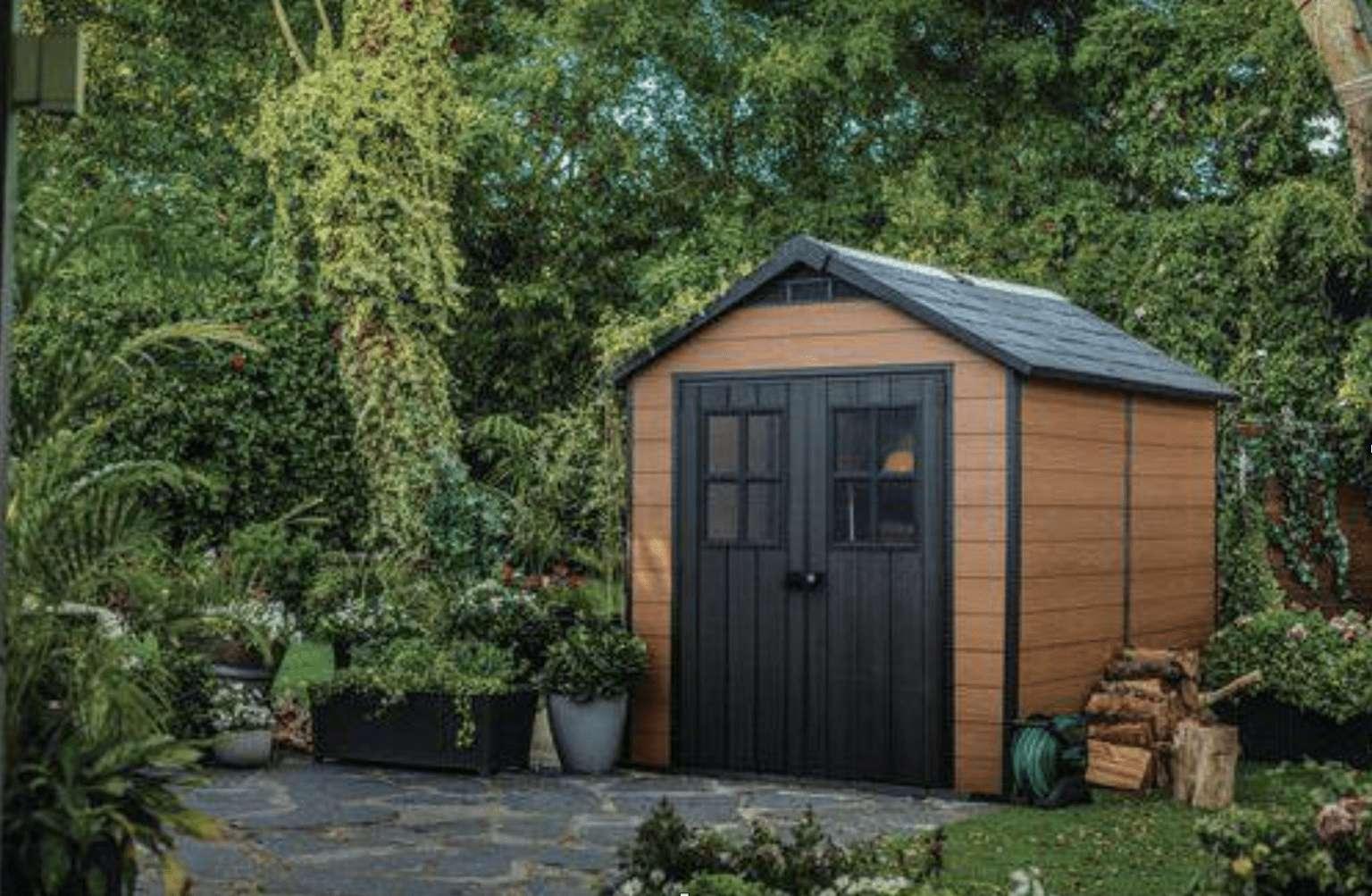 Ein Gartenhaus aus Blech