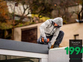 Die Montage der Dachelemente
