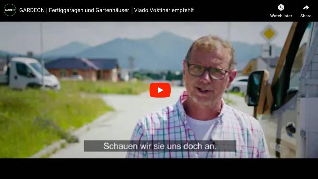 GARDEON | Fertiggaragen und Gartenhäuser │ Vlado Voštinár empfehlt