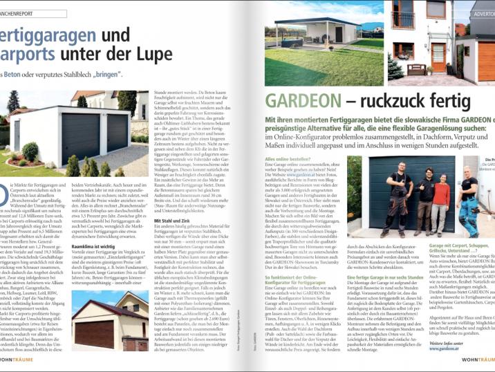 GARDEON im Magazin Wohnträume