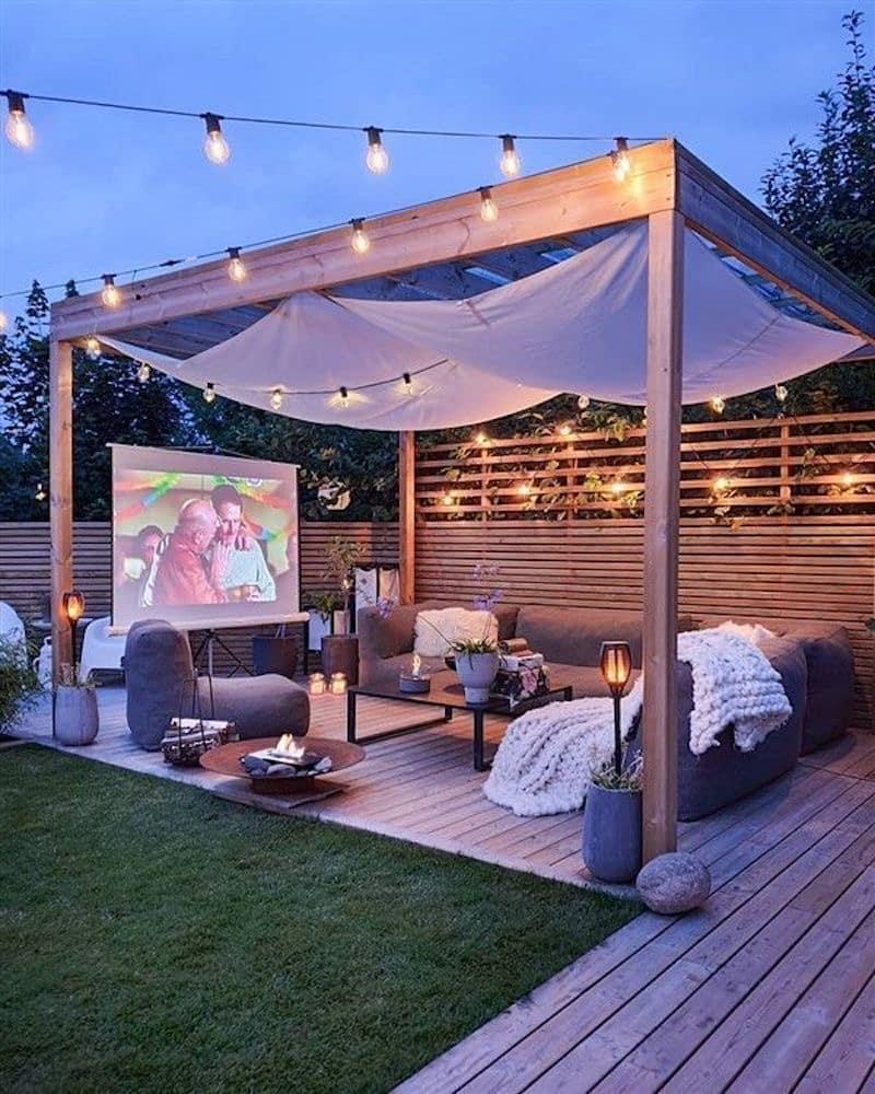 Kinosaal im eigenen Garten