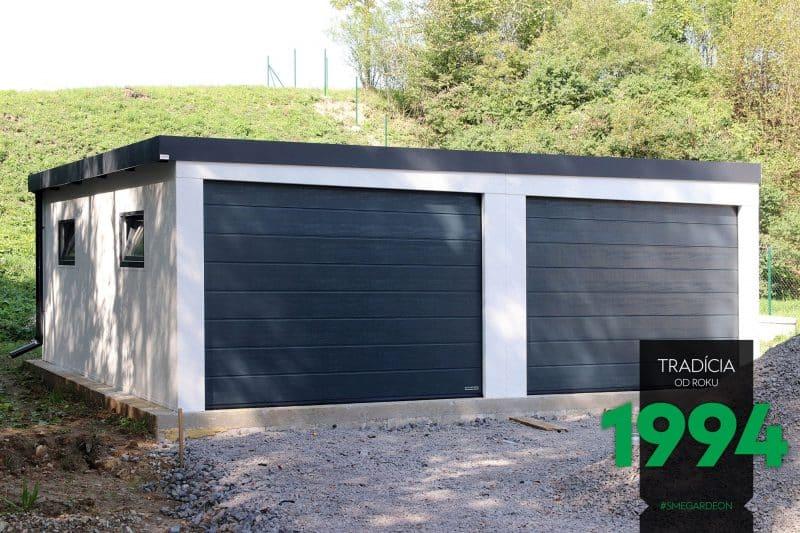 GARDEON - Garage für 2 PKWs mit 2 Toren