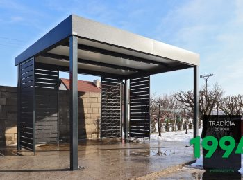GARDEON: Stahlpergola in Antracit mit WE aus Metall