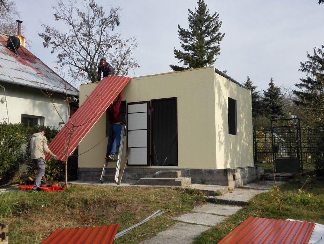 Die Montage der Dachdeckung