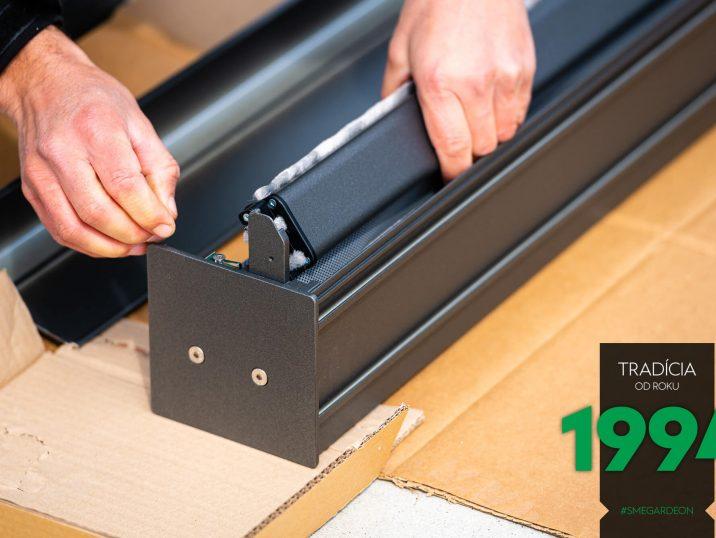 Detail - Montage des Systems für die Dachlamellen