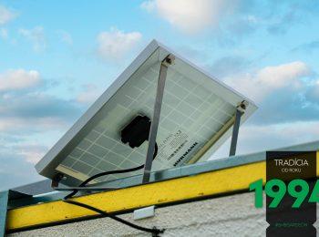 Detailansicht - Solarantrieb aus der Hinterseite