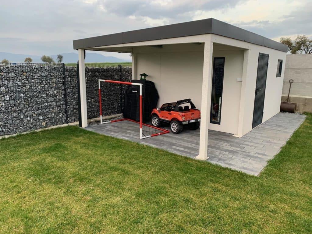 Kundenfoto: Das fertigmontierte Gartenhaus GARDEON