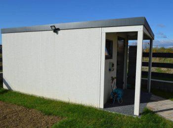 Gartenhütte GARDEON mit Überdachung - Seitenfoto