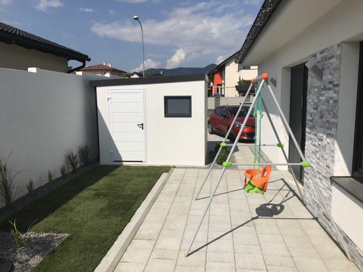 GARDEON - weiße Gartenhütte - Foto vom Kunden
