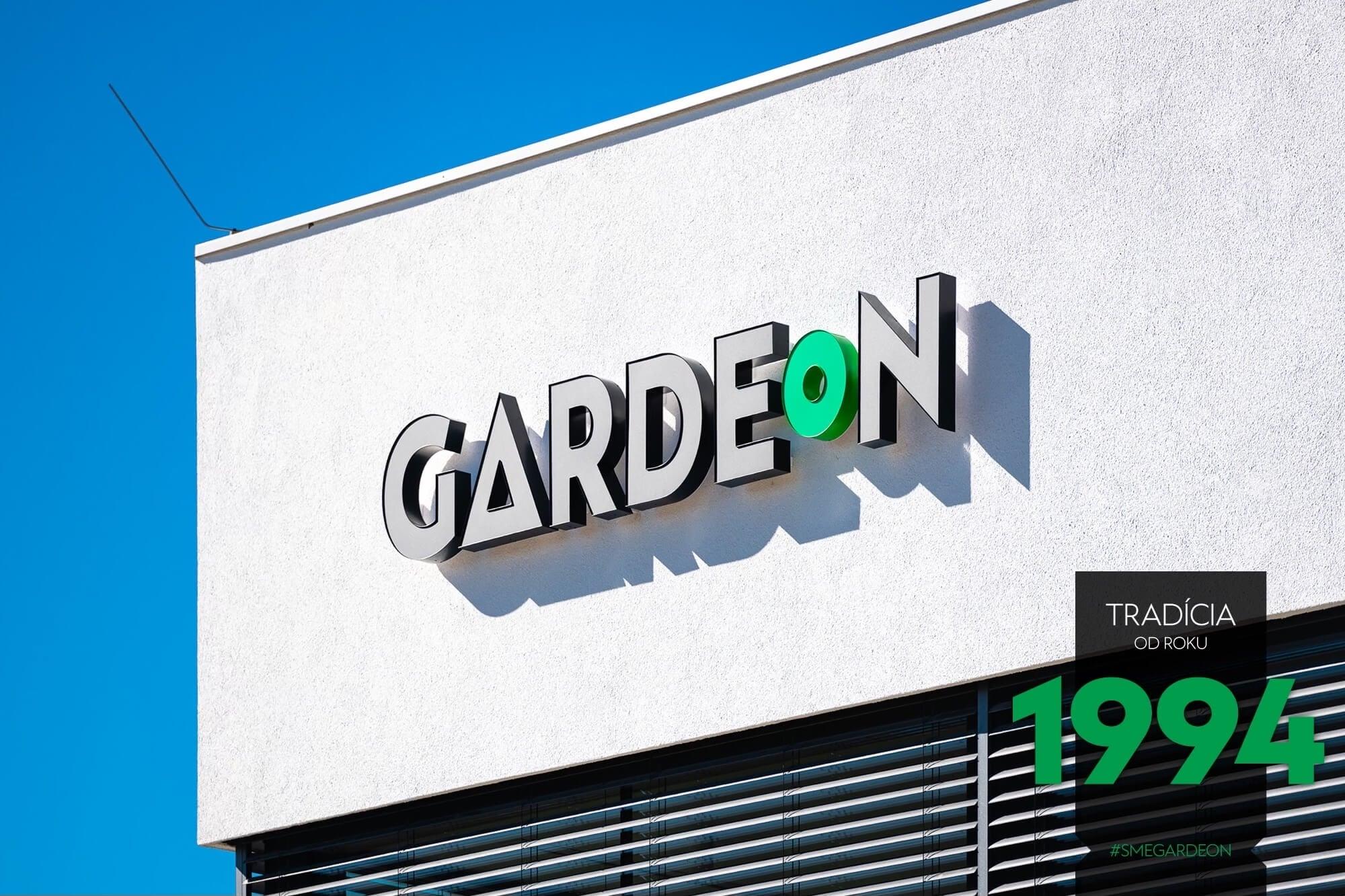 GARDEON Logo auf dem Firmengebäude