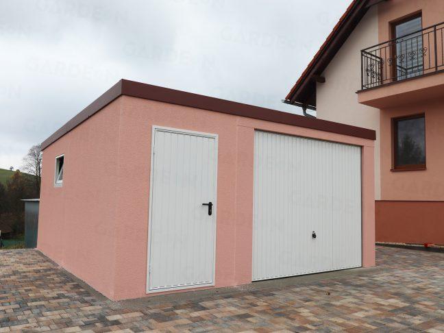 Eine atypische Garage in rosa für 1 Auto