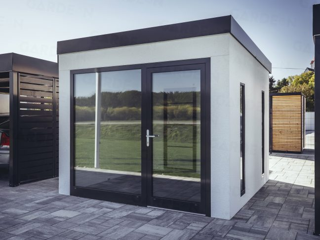 Ein Design - Häuschen von GARDEON mit Großformat - Fenster