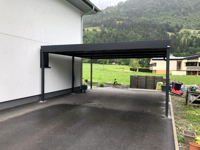 Ein montiertes GARDEON Carport