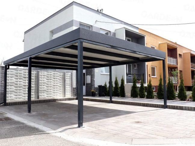 Ein GARDEON Carport mit Dachdämmung