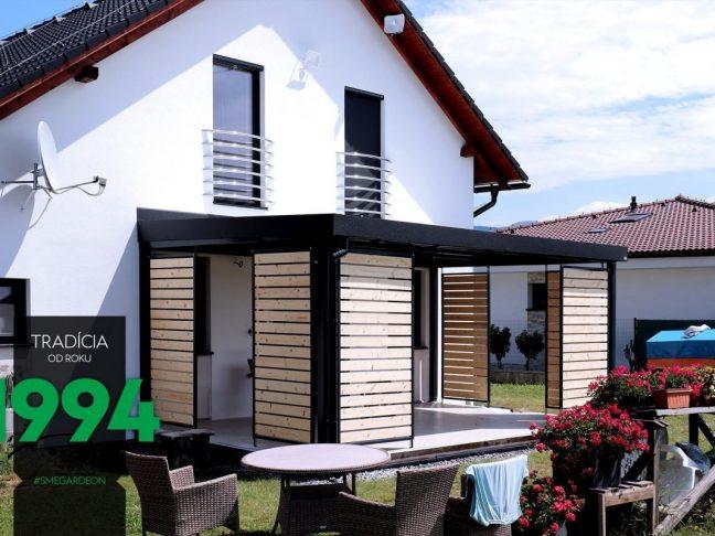 GARDEON Pergola mit Sichtschutz aus Holz