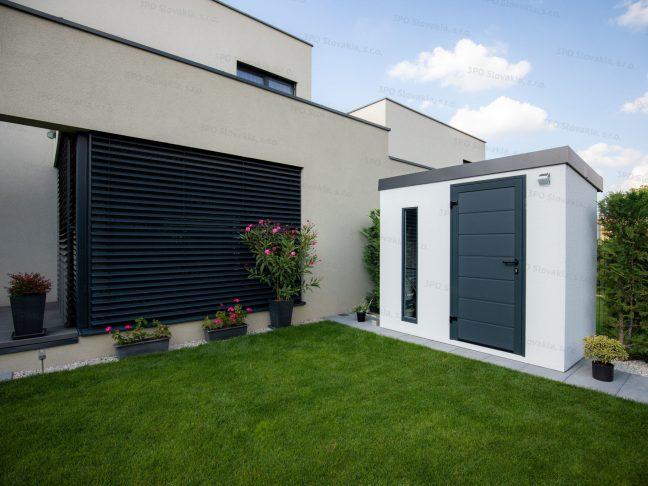 Ein modernes Gartenhaus für Fahrräder