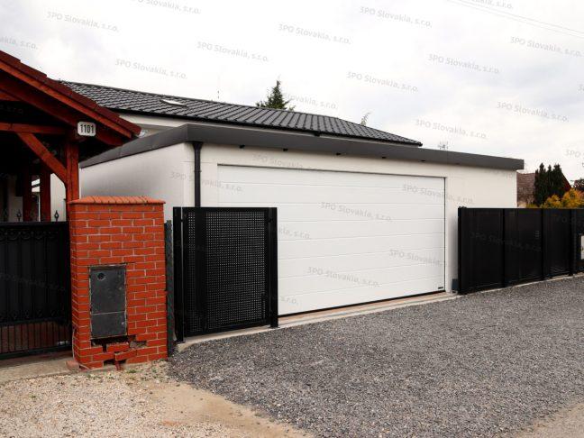 Eine atypische Garage in weiß