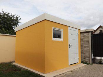 Ein modernes Gartenhaus von GARDEON in gelb