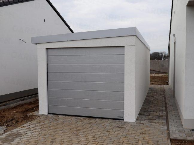 Die Garage von GARDEON mit Dachgefälle nach links