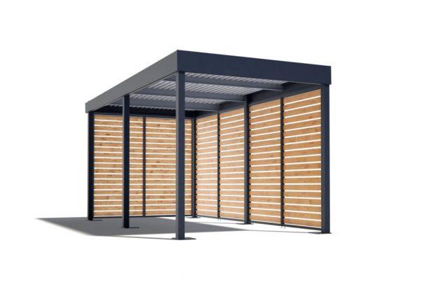 Das Carport von GARDEON mit Holzausfüllungen