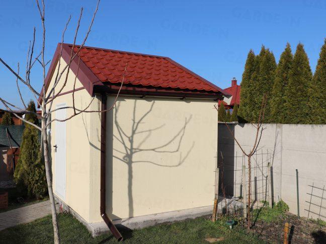 Das Gartenhaus von GARDEON mit Satteldach