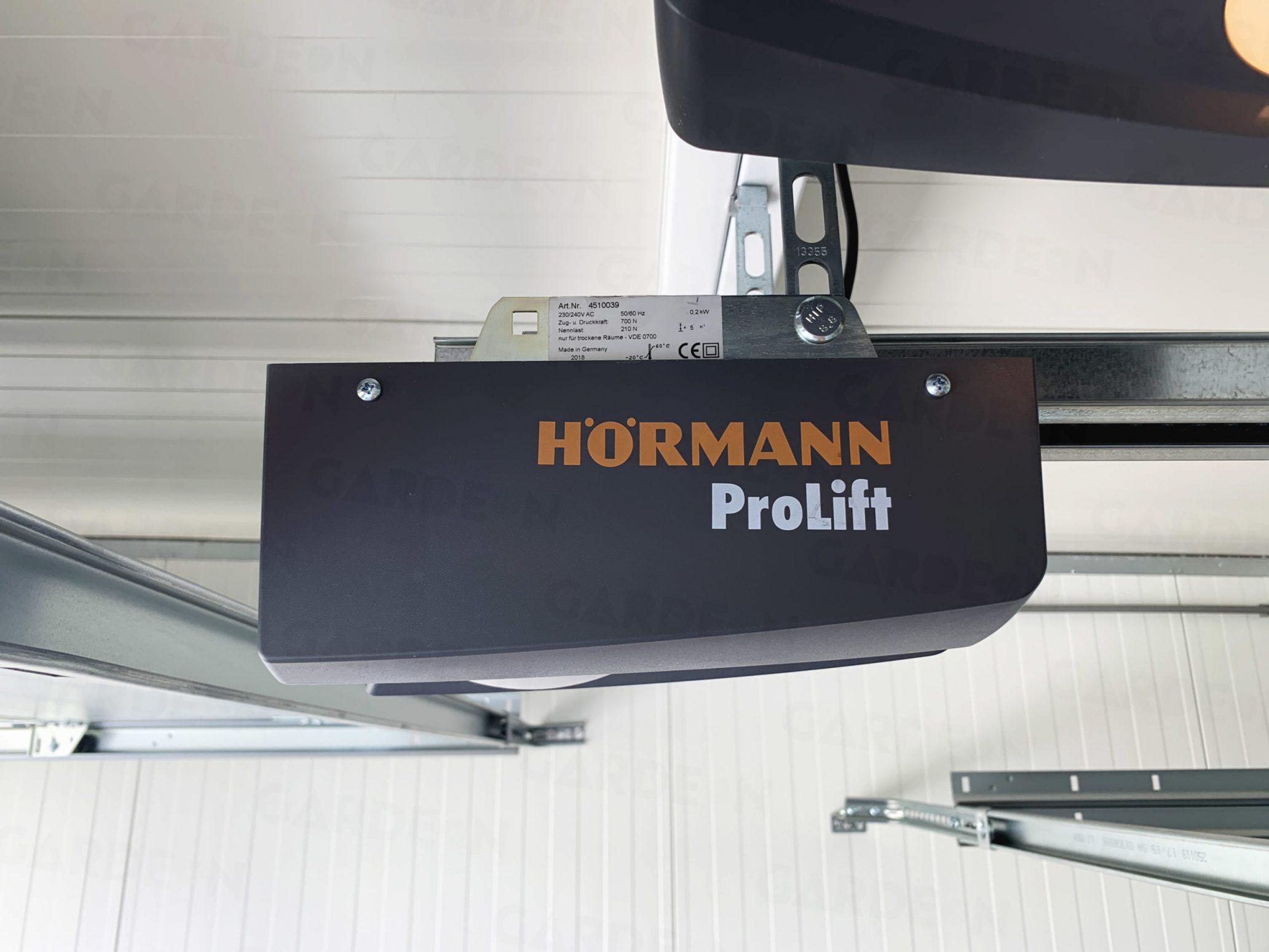 Die Befestigung des Motors Hörmann ProLift