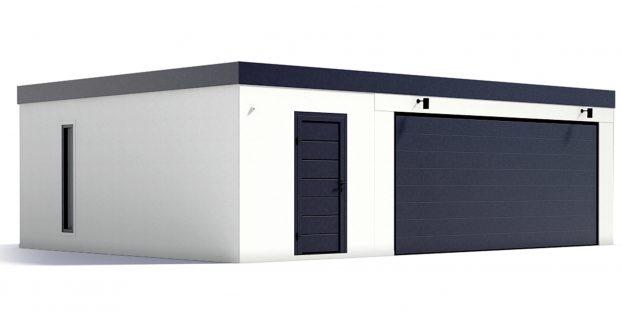 Eine maßangefertigte Garage