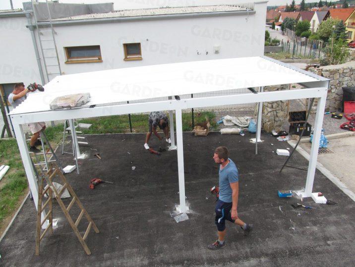 Die Versetzung der Dachdeckung von GARDEON