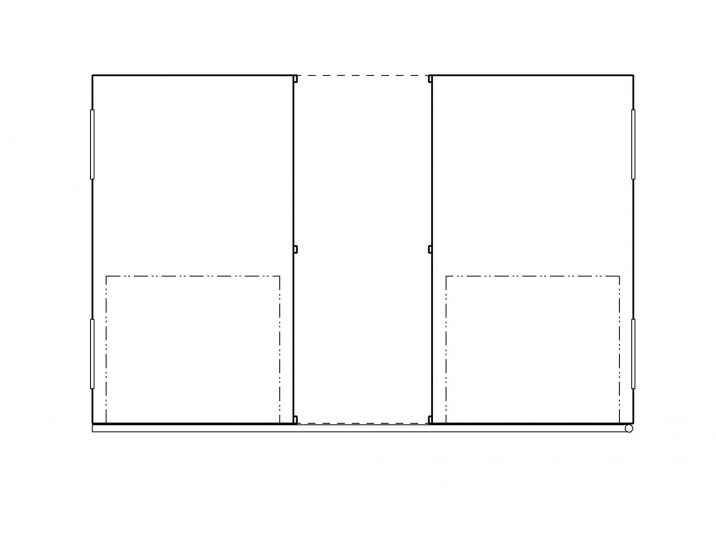 Der Grundriss einer montierten Garage