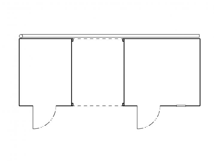 Der Grundriss eines Gartenhäuschens