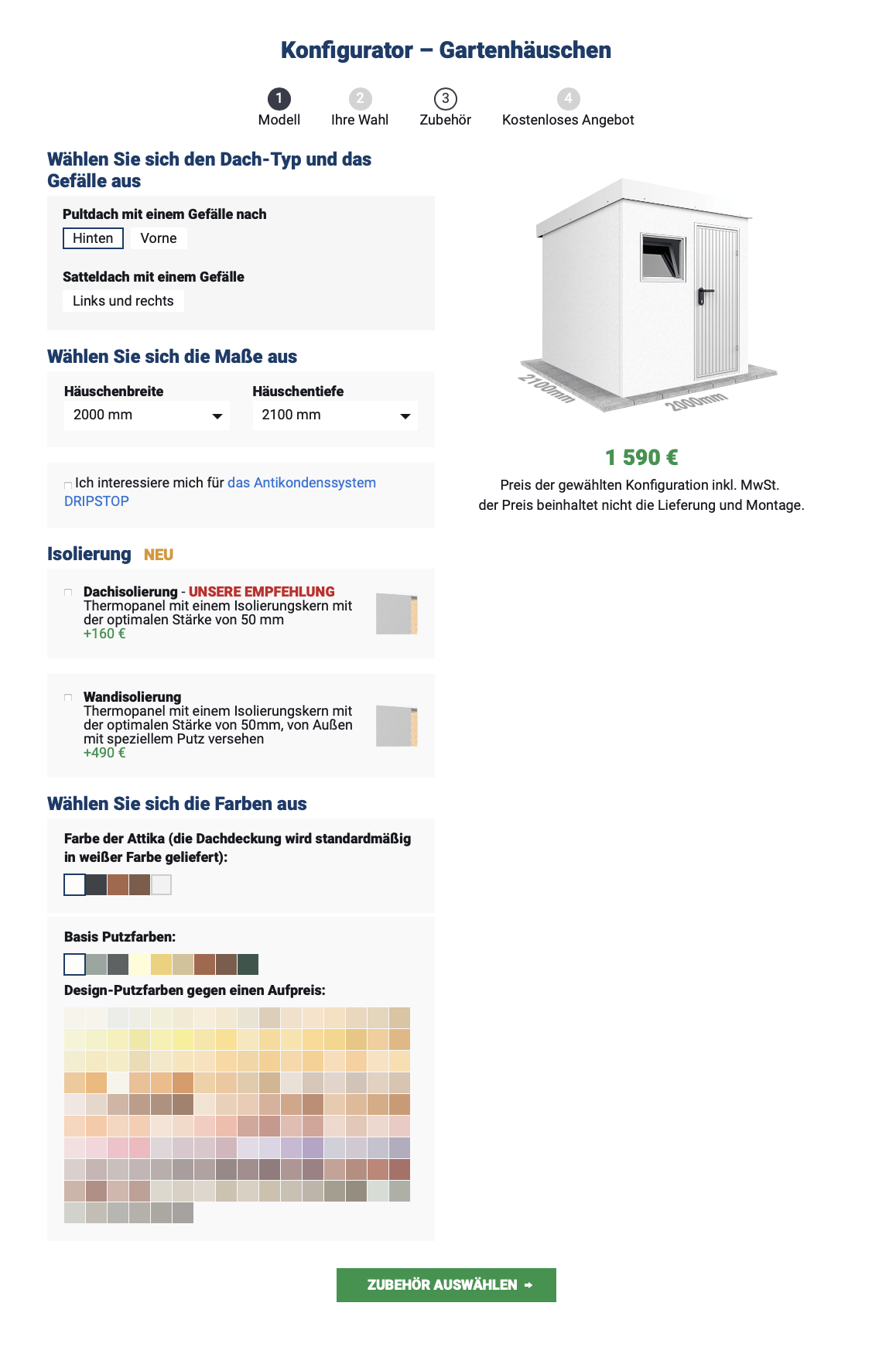 Konfigurator - Häuschen
