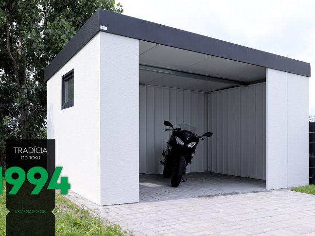 Die GARDEON Garage für ein Auto in weiß