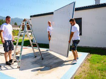 Platzieren der einzelnen Wandteile