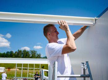Die Montage der Dachträger